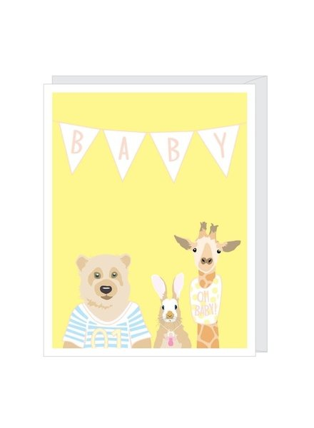Apartment 2 Baby Banner Greeting Card