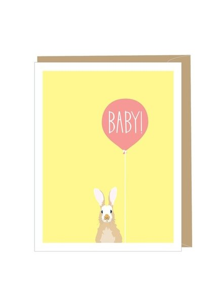 Apartment 2 Rabbit Baby Greeting Card