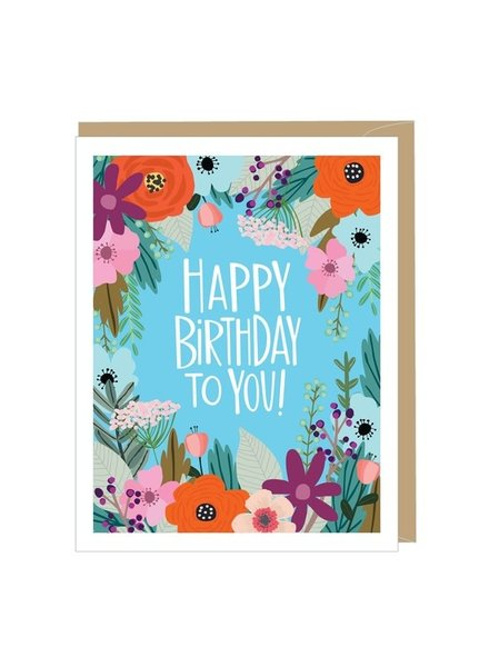 Apartment 2 Happy Birthday Floral Greeting Card