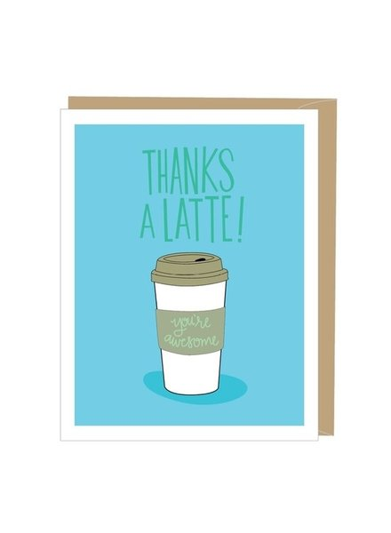 Apartment 2 Thanks A Latte Greeting Card