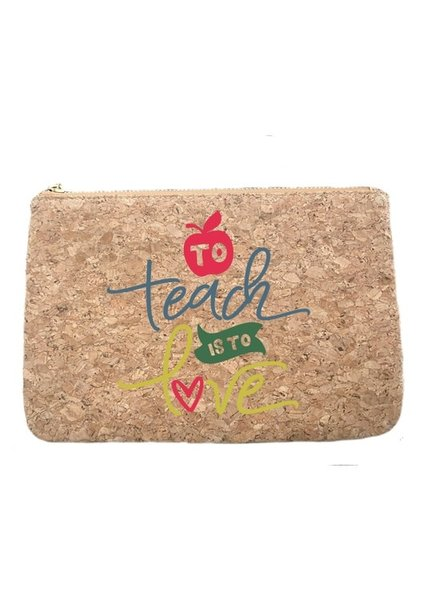 Aspen Lane To Teach Is To Love Cork Zip Bag