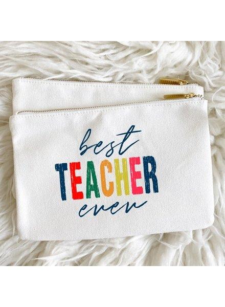 Aspen Lane Best Teacher Ever Canvas Pouch
