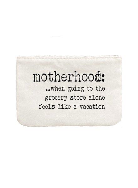 Aspen Lane Motherhood Vacation Canvas Zip Bag