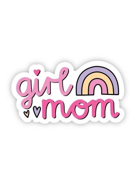 Big Moods Girl Mom Rainbow Sticker