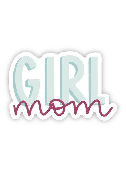 Big Moods Girl Mom Teal & Pink Sticker