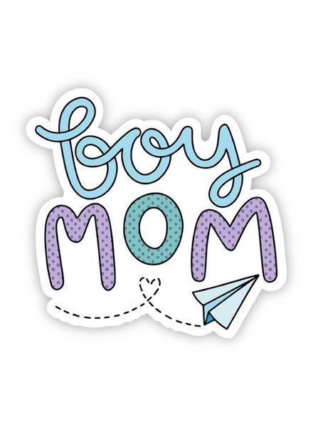 Big Moods Boy Mom Paper Airplane Sticker