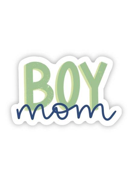 Big Moods Boy Mom Blue & Green Sticker