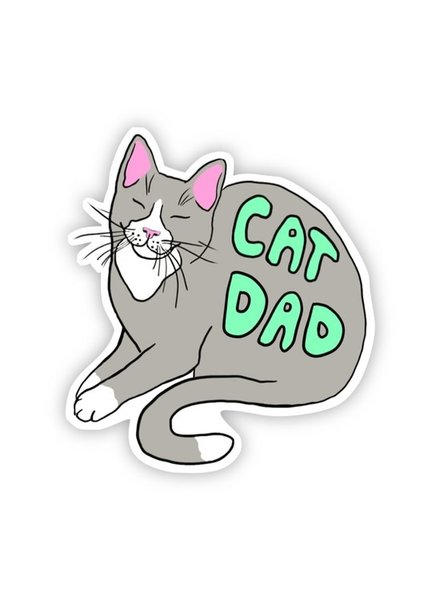 Big Moods Cat Dad Sticker