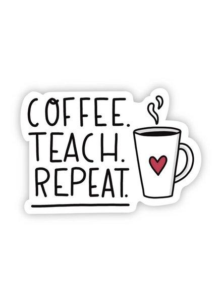 Big Moods Coffee Teach Repeat Sticker