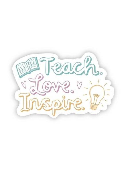 Big Moods Teach Love Inspire Sticker