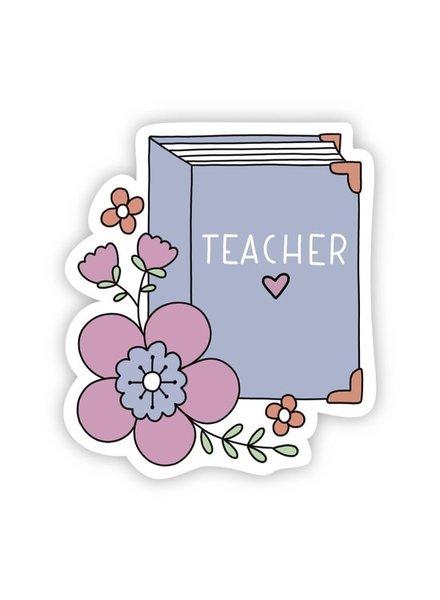 Big Moods Teacher Floral Book Sticker