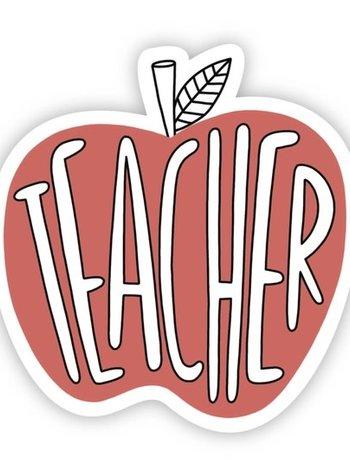 Big Moods Teacher Red Apple Sticker