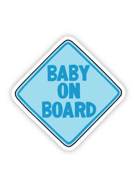 Big Moods Blue Baby On Board Sticker