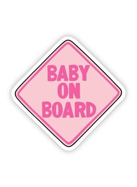 Big Moods Pink Baby On Board Sticker
