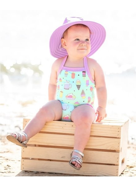Ruffle Butts Lilac Swim Hat