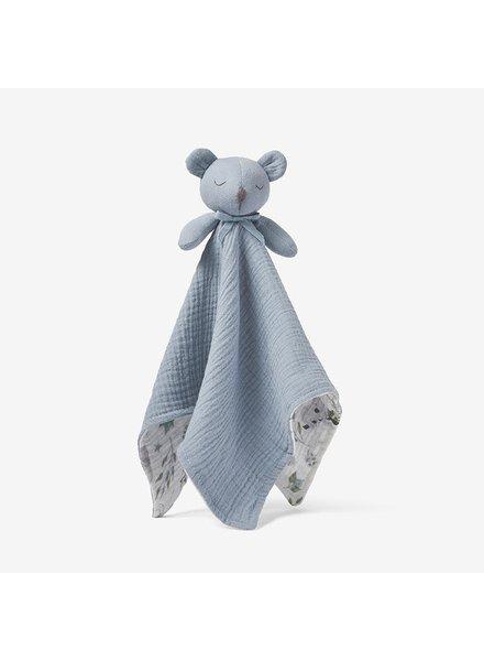 Elegant Baby Stone Blue Bear Security Blanket