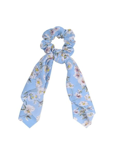Initial Styles Baby Blue Floral Scrunchy Scarf