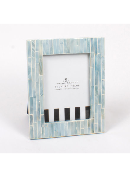 8 Oak Lane Blue Mother of Pearl Picture Frame