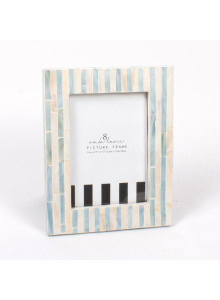8 Oak Lane Blue Striped Mother of Pearl Picture Frame