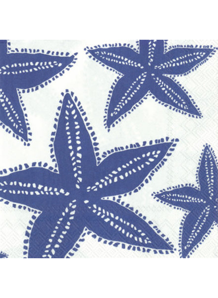 Boston International Blue Starfish Cocktail Napkin