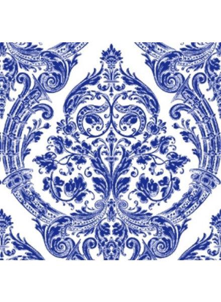 Boston International Blue & White Grandeur Cocktail Napkins