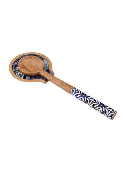 Mudpie Indigo Spoon Rest Set