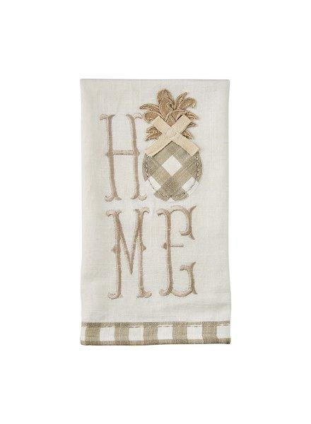 Mudpie Pineapple Home Applique Towel