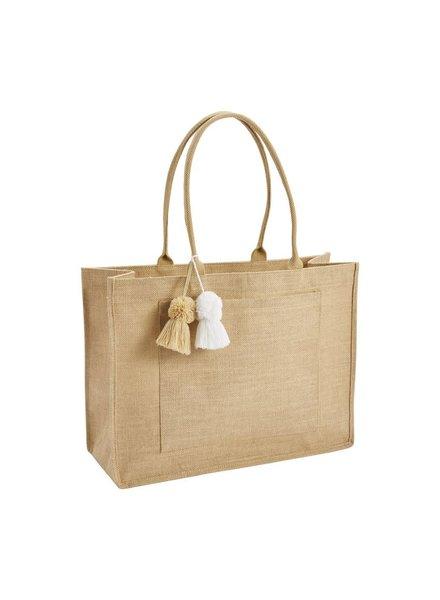 Mudpie Natural Jute Tote Bag