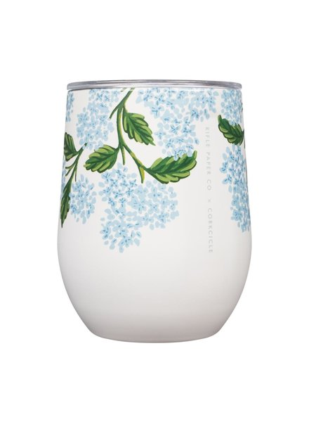 CORKCICLE Rifle Paper Co. Hydrangea Stemless Wine