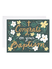 9th Letter Press Congratulations on Your Baptism Greeting Card