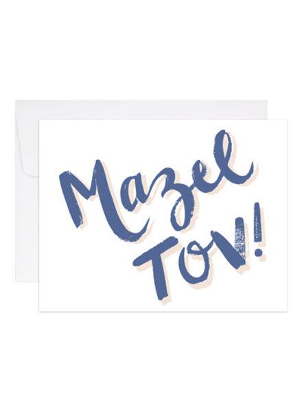 9th Letter Press Mazel Tov Greeting Card