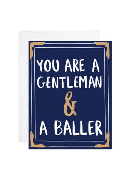 9th Letter Press Gentleman & A Baller Greeting Card