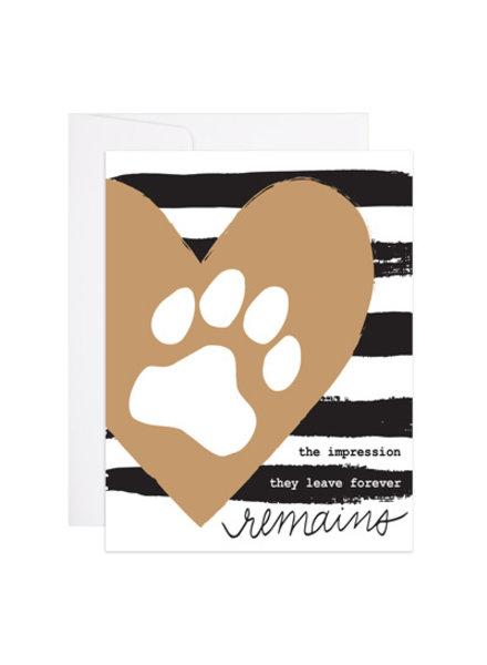 9th Letter Press Lasting Impression Pet Loss Card