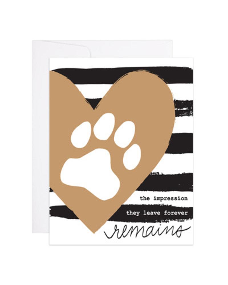 9th Letter Press Greeting Card - Lasting Impression Paw Print