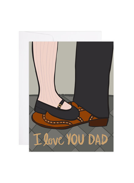 9th Letter Press I Love You Dad Greeting Card