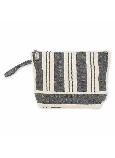 Sun & Sand Black Striped Wristlet
