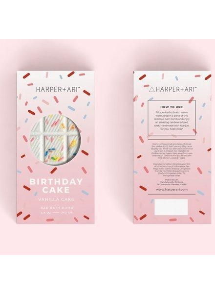 Harper + Ari Birthday Cake Bath Bomb Bar