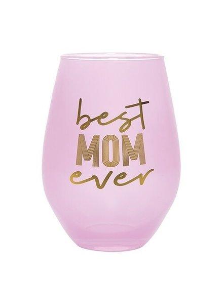 Slant Best Mom Ever Stemless Wine Glass