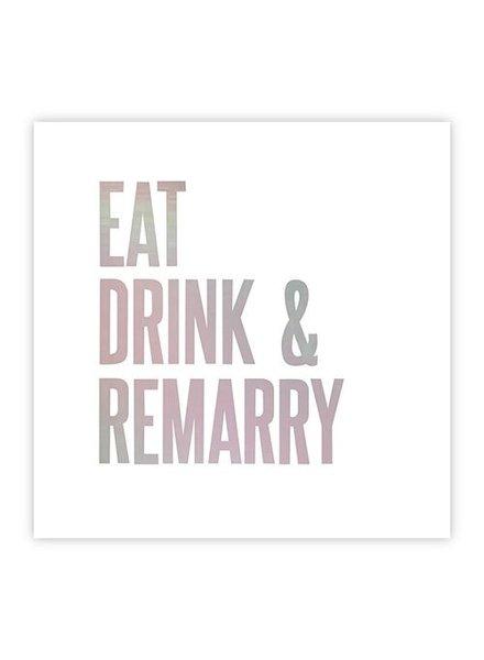 Slant Eat Drink & Remarry Cocktail Napkins