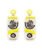 Initial Styles Yellow Hard Seltzer Seed Bead Earrings