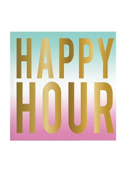 Slant Happy Hour Cocktail Napkins