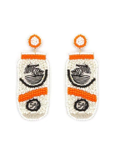 Initial Styles Orange Hard Seltzer Earrings