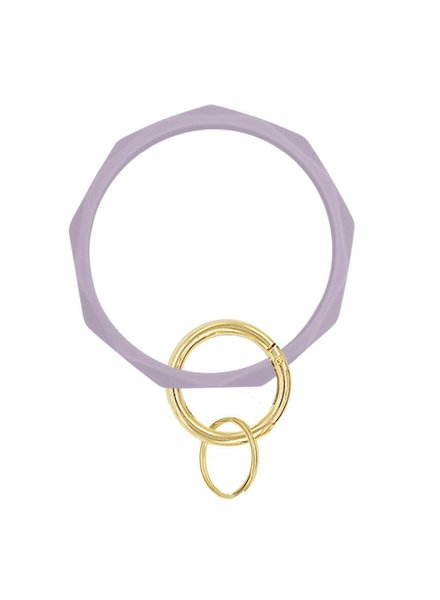 Initial Styles Silicone Round Geometric Keychain - 10 Color Options