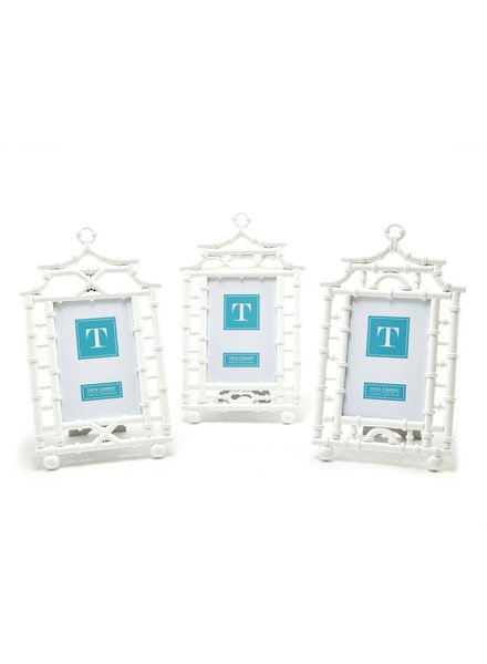 Two's Company White Pagoda Picture Frames