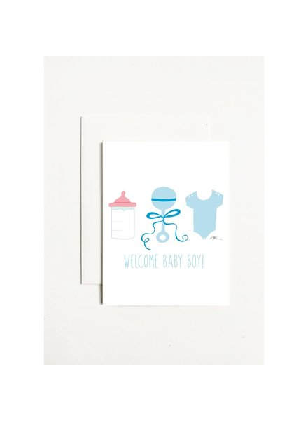 k.Patricia Welcome Baby Boy Greeting Card