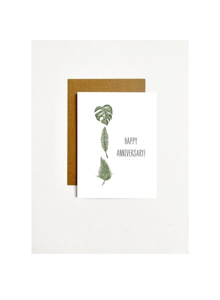 k.Patricia Happy Anniversary - 3 Plants Greeting Card