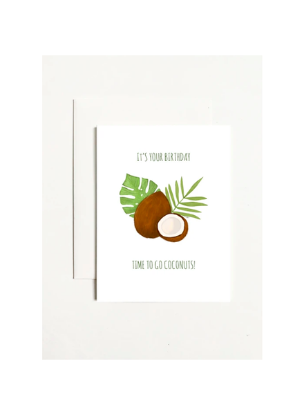 k.Patricia Birthday Coconuts Greeting Card