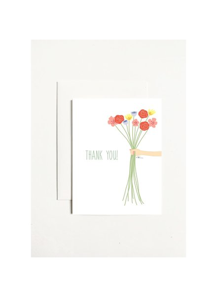k.Patricia Thank You - Flower Bouquet Greeting Card
