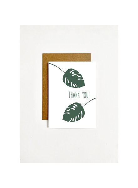 k.Patricia Thank You - Leaves Greeting Card