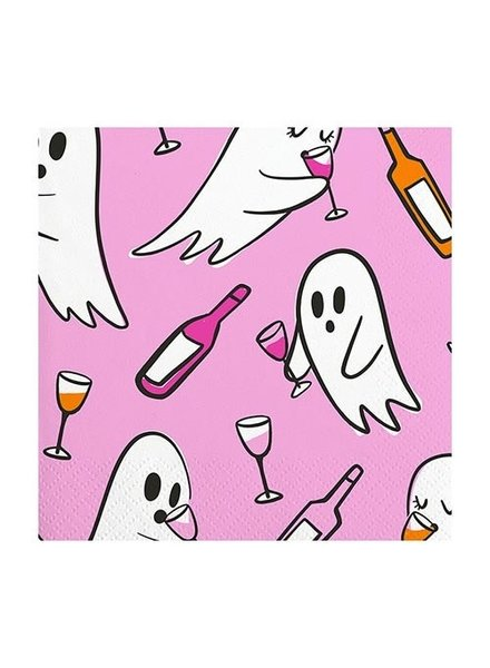 Slant Drinking Ghosts Cocktail Napkins